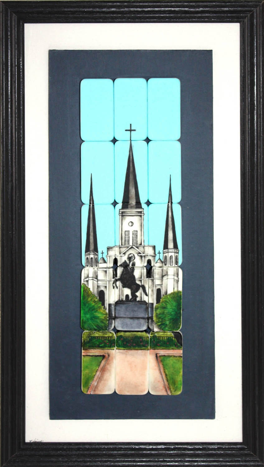 st louis cathedral against a blue sky